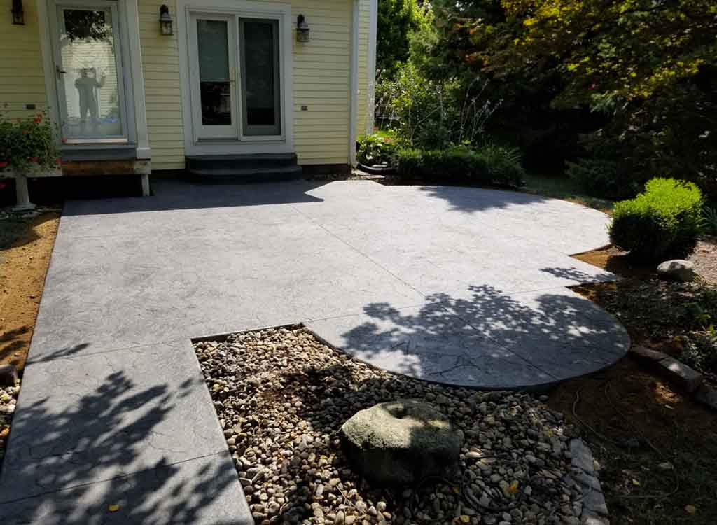 Location: Downtown Indianapolis, Indiana; Category: Patio; Concrete Color:  Gull Gray; Release Color: Storm Gray; Square Feet: 300 (x2) Removal And  Replace ...