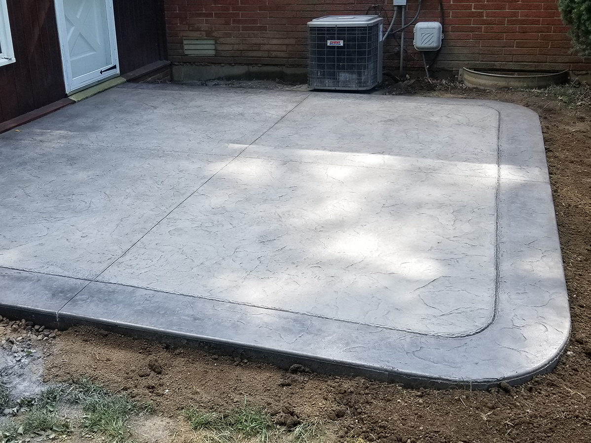 Perry Township New Porch And New Patio | Indy Decorative ConcreteIndy  Decorative Concrete